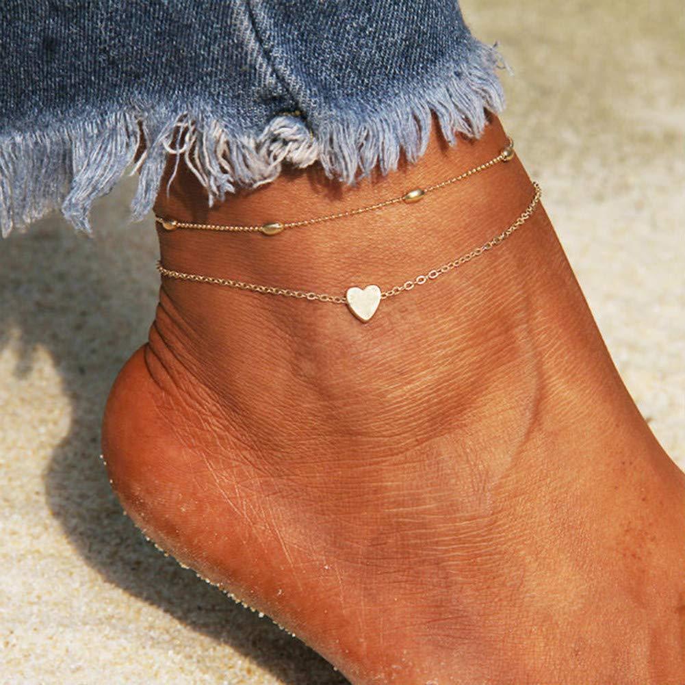 KANKOO Tobilleras para Mujer Tobilleras para Ni/ña Mini Pies Descalzos Ajustable De Acero Titanio Pulsera Plata Esterlina Longitud Grande Tobillera