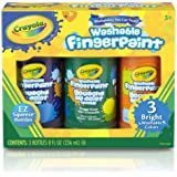 Crayola Washable Fingerpaint Secondary Colors, 3ct