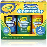 Crayola Washable Fingerpaint (Secondary), 3 Count/8-Ounce
