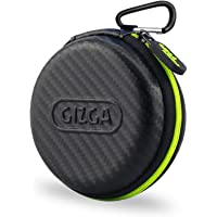 Gizga Multi Purpose Pocket Storage Travel Organizer Case for Earphone, Pen Drives, Memory Card, Data Cable - Carbon Fibre (Black/Green)