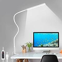 LED Desk Lamp, Swing Arm Table Lamp with Clamp, Flexible Gooseneck Task Lamp, Eye-Caring Architect Desk Light, 3 Color…