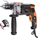 Hammer Drill, 7A 1/2inch(13mm) Dual Drill with Aluminium Alloy Head Cover, Metal Depth Gauge, Metal Gear, 3000RPM, 360° Metal Reversible Handle, Variable Speed for DIY - PID03A