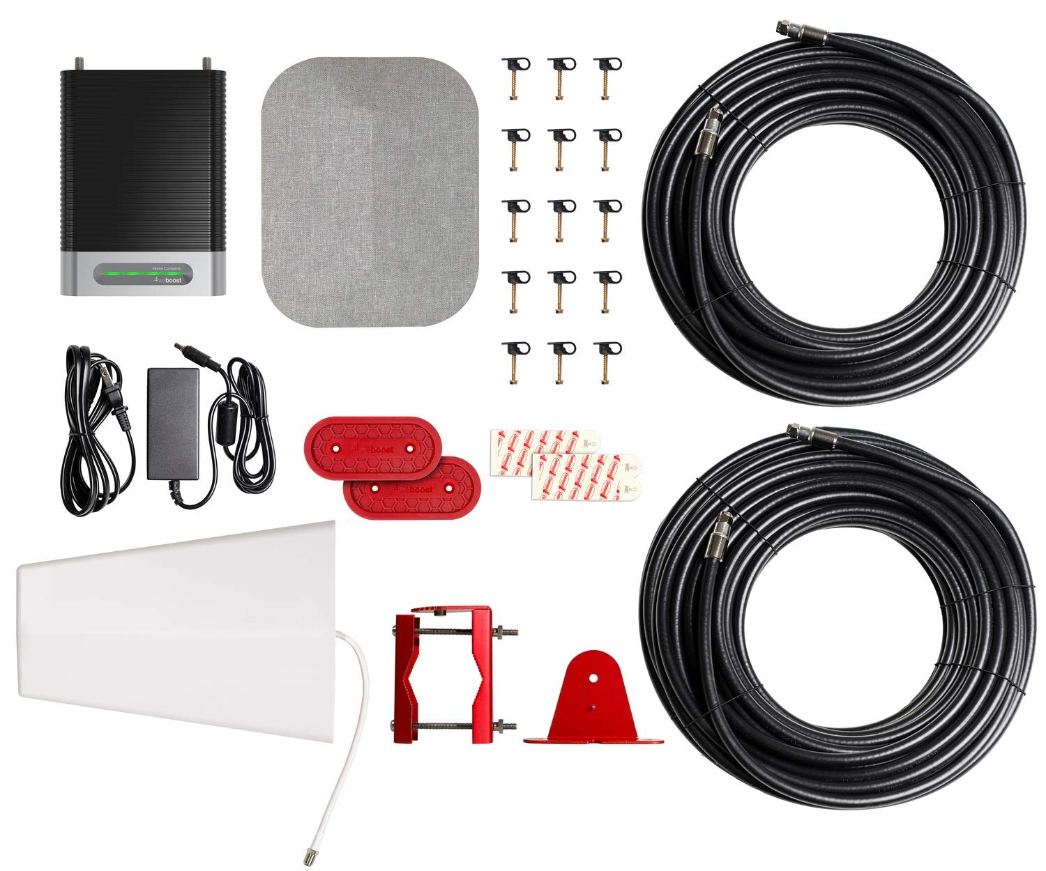 Cell Signal Booster Kit for Whole Home up to 7,500 sq - Maximum Cell Signal Boost Allowed by Industry Canada weBoost Home Complete 650145 Cell Phone Signal Booster ft