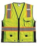 ML Kishigo 1513 Ultra-Cool Polyester Black Series Heavy Duty Vest, Extra Large, Lime