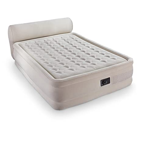 Intex Dura-Beam Queen Air Bed with Headboard by