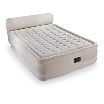 intex dura beam queen air bed with headboard