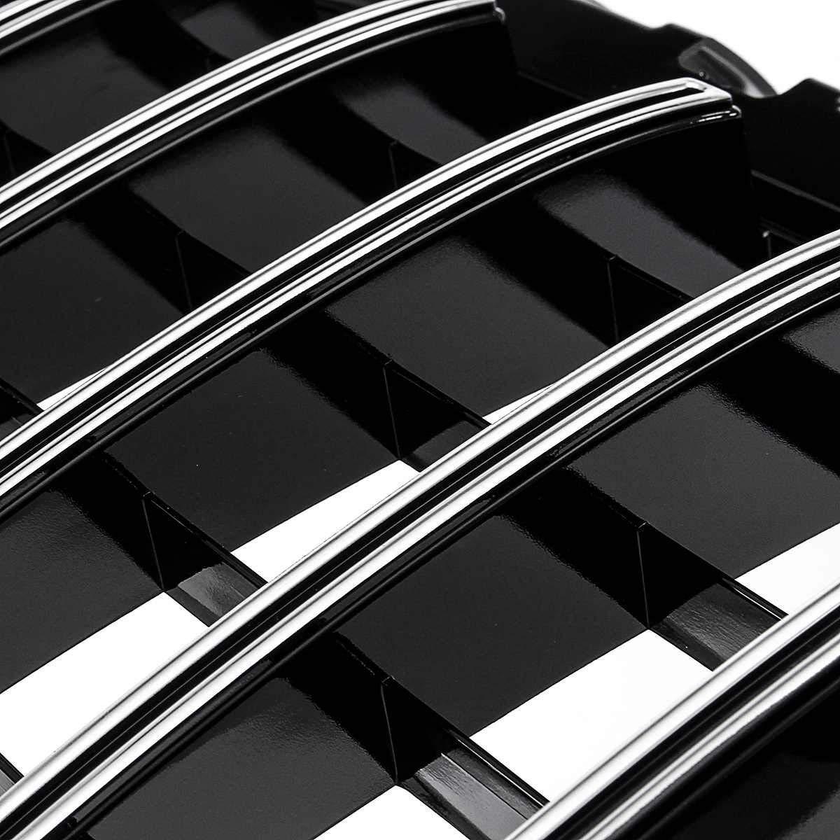 LSYBB ABS Grille Paraurti Anteriore Griglia Racing Adatto per Mercedes Classe A W177 A35 A45 A180 A200 A250 2018-2020 Amg GT Grill con Foro per Fotocamera,Black