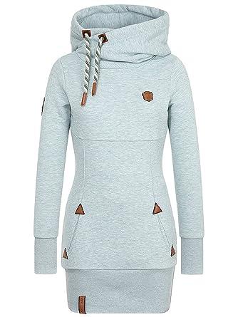 online store ce05e 4b2cc Naketano Damen Kapuzenpullover Lange Hoodie