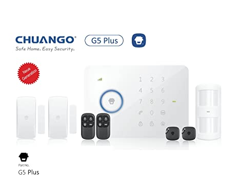 CHUANGO 1 gsm/SMS/RFID Touch Alarm System, Blanco, 1