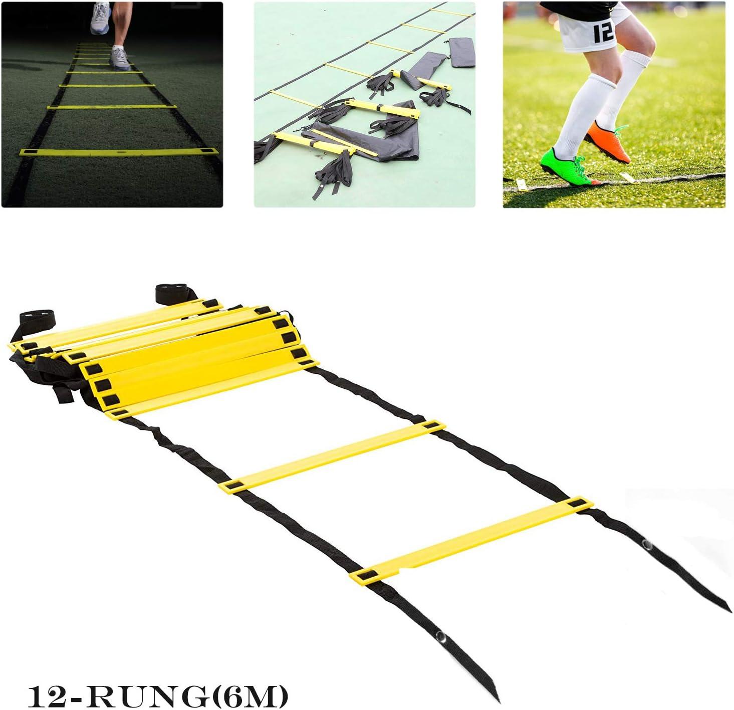 HINATAA Agility Ladder Escalera de Velocidad con Bolsa de Transporte, Escalera de Entrenamiento de Velocidad 6 m SKL12 Escalera de Entrenamiento: Amazon.es: Deportes y aire libre