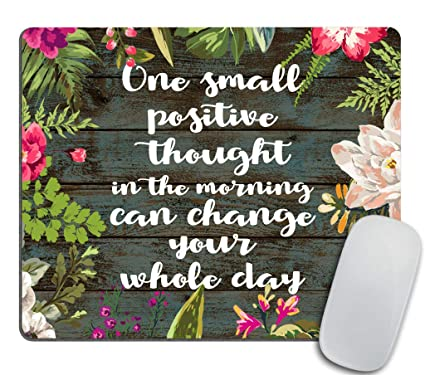 Amazon Inspirational Positive Quote About Happiness Mouse Pad