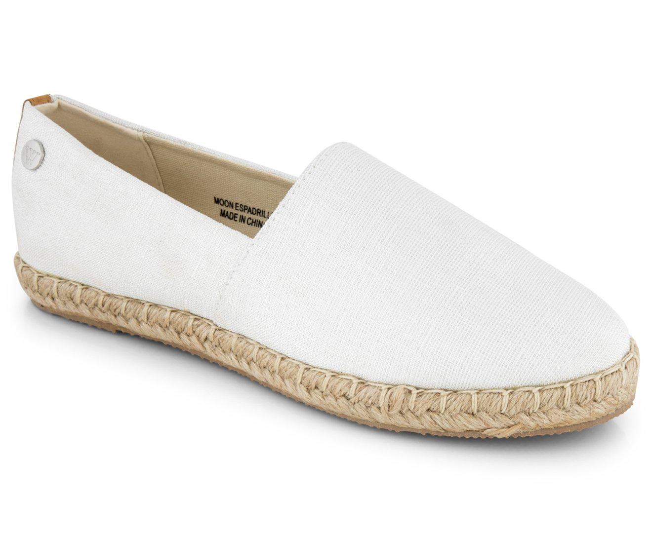 e707883a Walnut Melbourne Women's Moon Espadrille Shoe Lurex White: Amazon.com.au:  Fashion