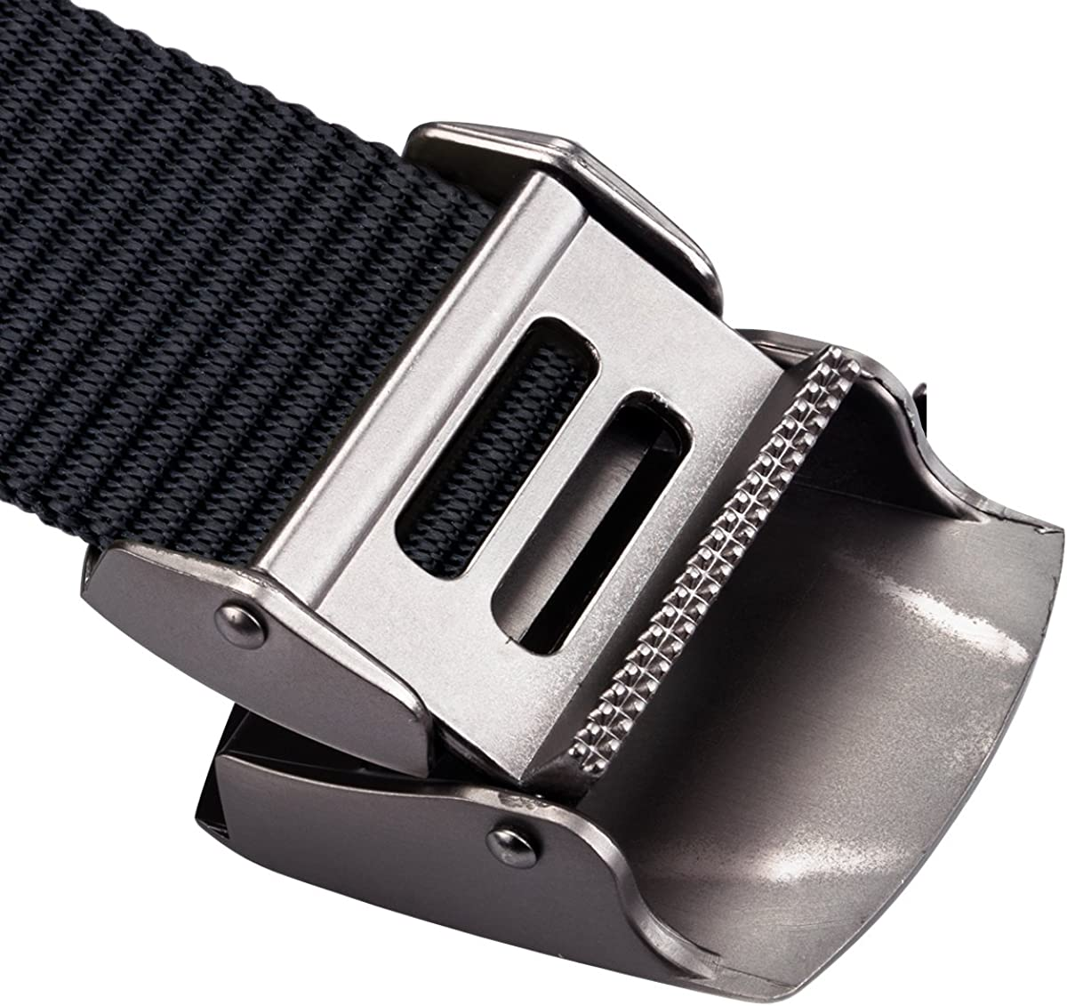 Barry.Wang Mens Tactical Belts Military Style Shooters Nylon Belts with Metal Buckle