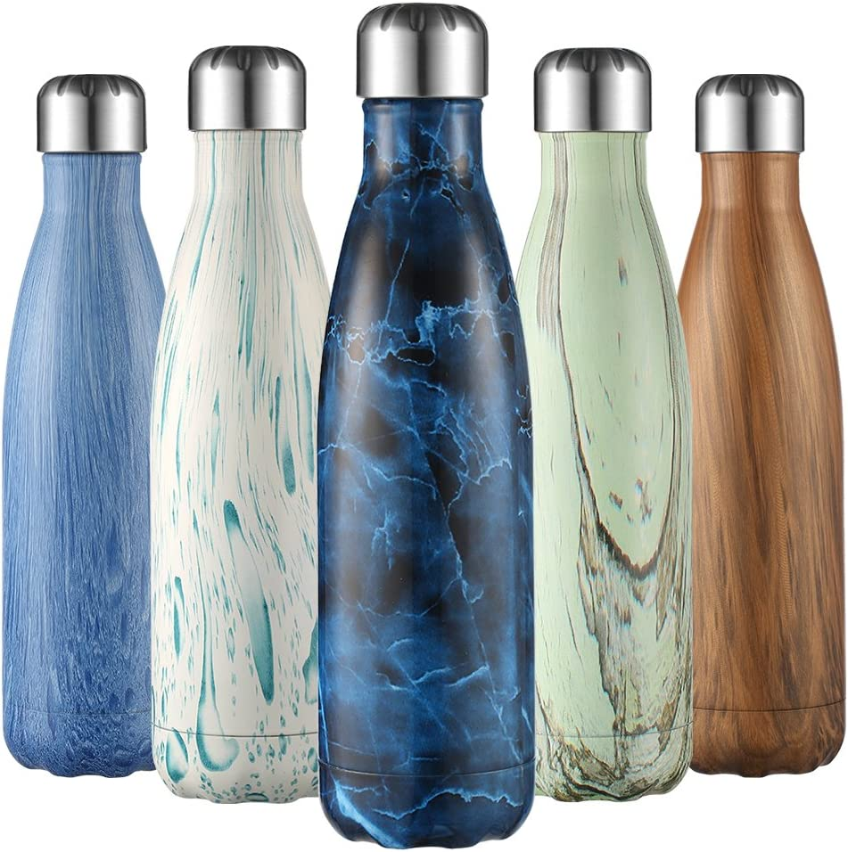 500ml Insulated Vacuum Stainless Steel Water Bottle By liveup SPORTS for Outdoor Sports Hiking Running Cycling Leak Proof keeps Hot and Cold Drinks