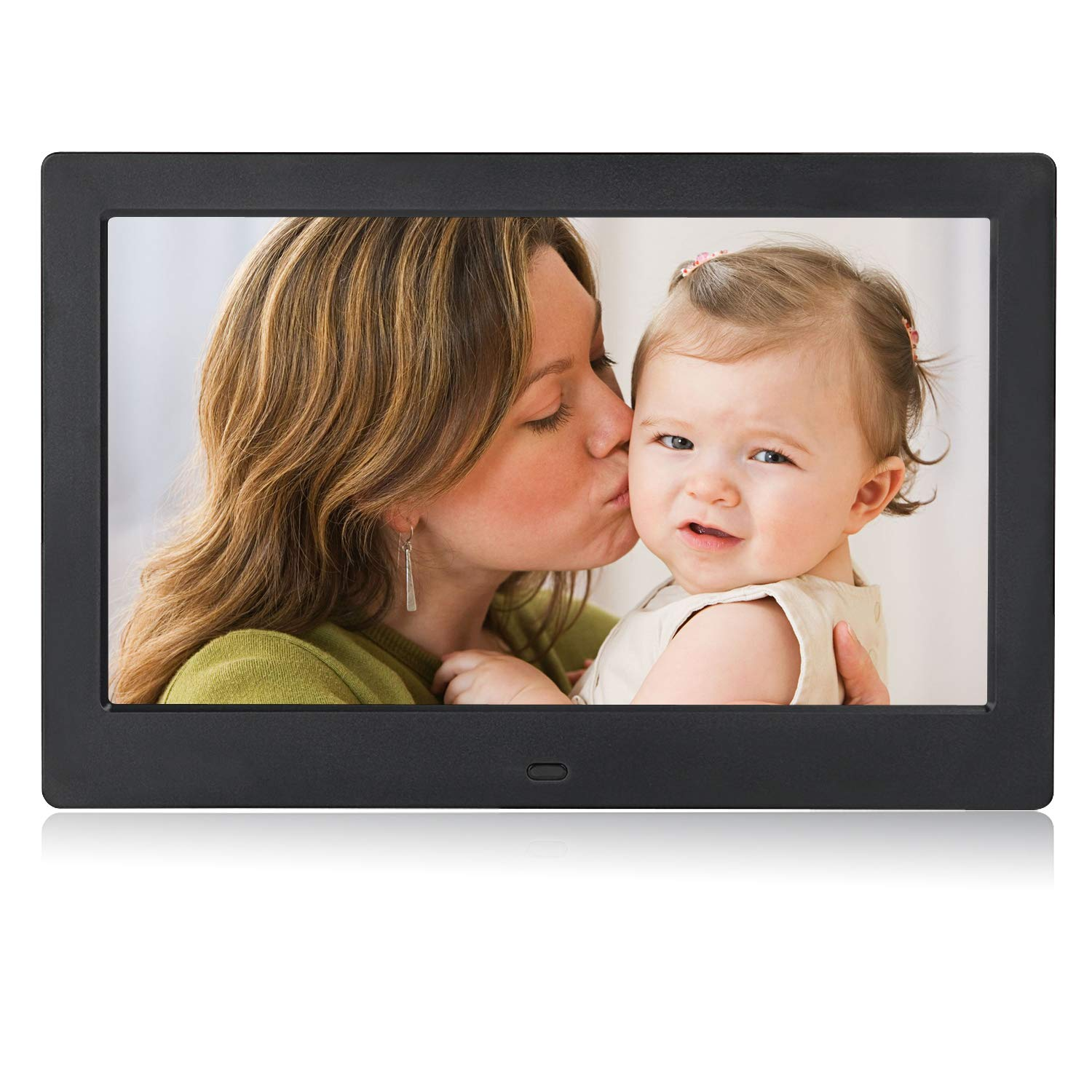 Digital Picture Photo Frame IPS Widescreen Electronic Picture Frame High Definition(1080P) with LCD Display 1024x768,No USB/SD Included,with Wireless Remote Control(Black)