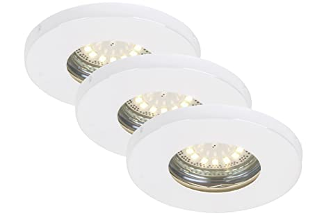 Briloner Leuchten LED Einbauleuchten 3-er Set, Einbaustrahler, GU10 ...