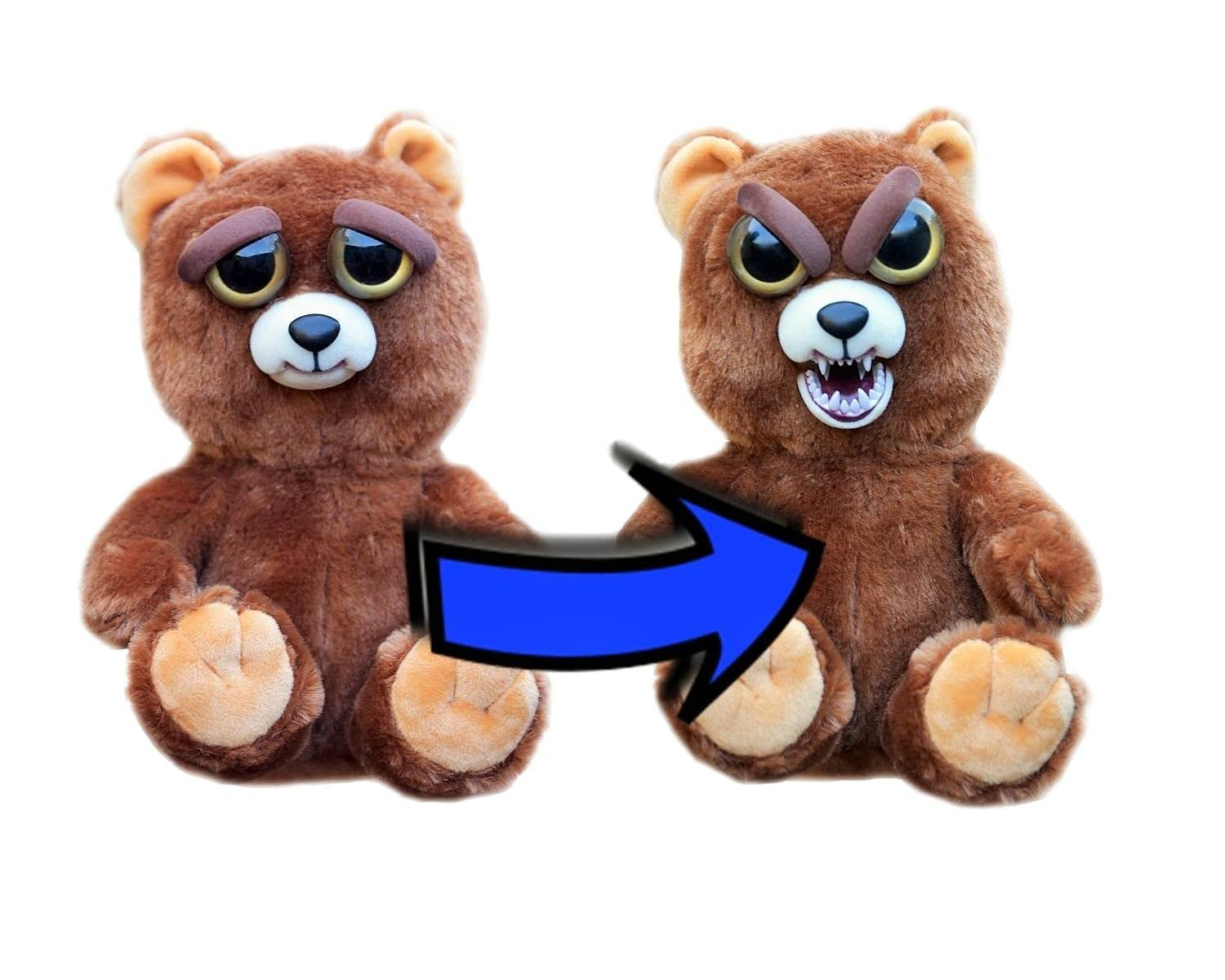 "Amazon.com: Feisty Pets by William Mark: Sir Growls-A-Lot & Grandmaster Funk- 8"" Plush Stuffed Bear and Monkey That Turn Feisty With a Squeeze: Toys & Games"