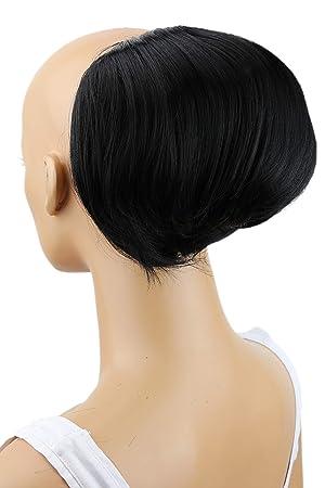 Amazon Com Prettyshop Up Do Hair Bun Topknot Knot Scrunchy Scrunchie Hair Piece Pony Tail Draw String Elegant Lovely Div Colours Jet Black 1 Beauty