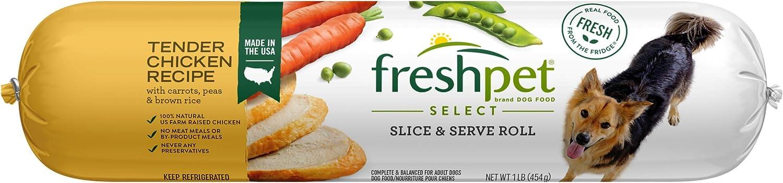 Freshpet Dog Food, Slice and Serve Roll, Tender Chicken Recipe, 16 Oz