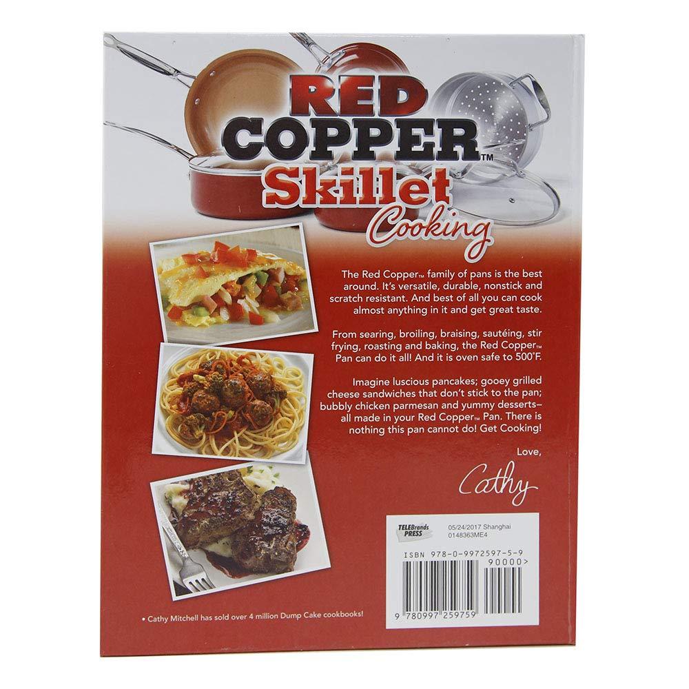 Rojo cobre sartén cocina libro de recetas de Cathy Mitchell por Bulbhead: Amazon.es: Hogar