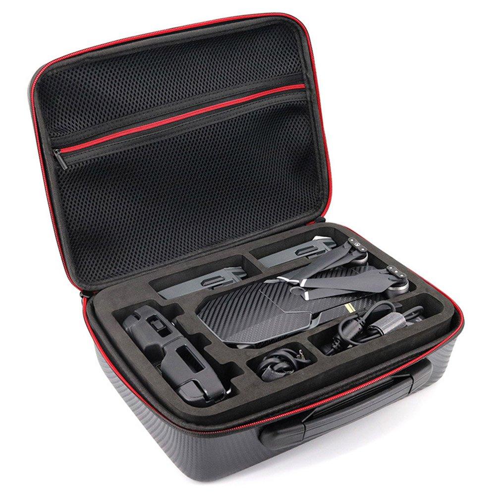Beyondsky Mavic Pro Carrying Case Hardshell Carbon Fiber PU, EVA Insert 3 Batteries Durable, Compact Storage for DJI Mavic pro Platinum (Carbon Fiber 3B Case)