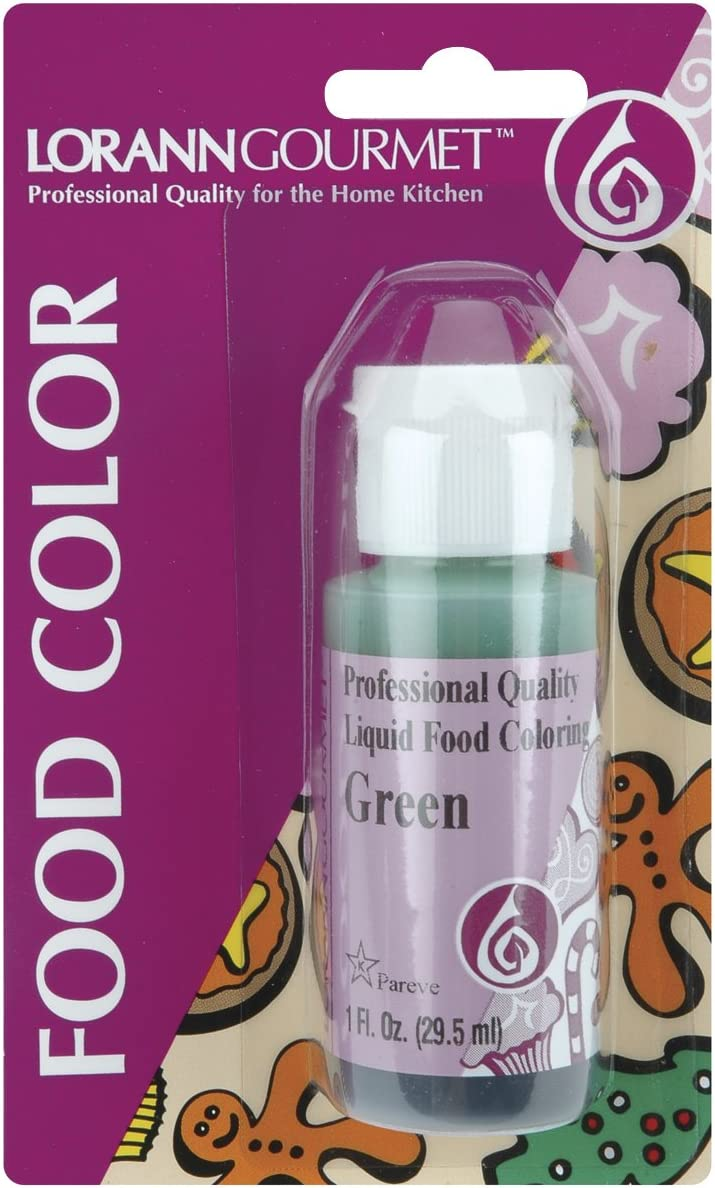 LorAnn Green Liquid Food Color, 1 ounce squeeze bottle
