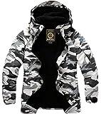 South Play Men's Premium Waterproof White Military Ski Snowboard Boardwear Jacket Parka