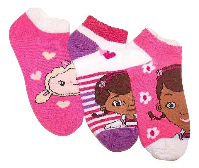 a29af9fa4 Image Unavailable. Image not available for. Color  Doc McStuffins 3 Sock  Set ~ Size 6-8