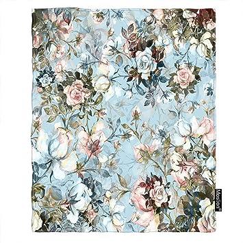 Amazon.com: Moslion - Manta con diseño de flores y ramo de ...