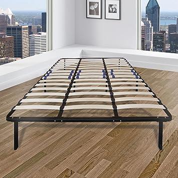 Amazon.com: Rest Rite C King-Size Bed Frame with Wood Slat Platform ...