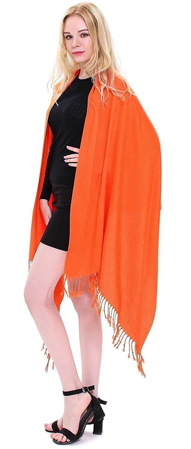 CJ Apparel Dark Green Solid Colour Design Nepalese Shawl Seconds Scarf Wrap Stole Throw Pashmina NEW