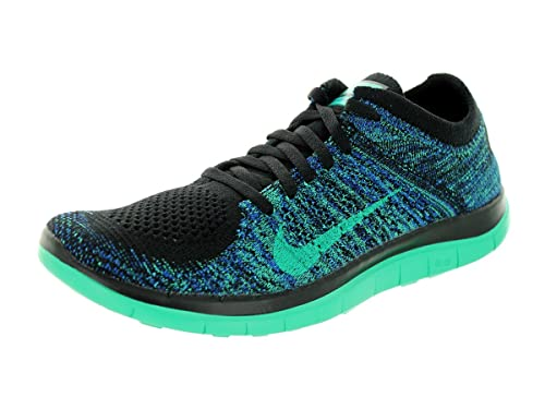 super popular e2609 bf391 Nike WMNS Free 4.0 Flyknit Womens Sneakers, Black Game Royal Atomic Teal Menta,  9  Amazon.ca  Shoes   Handbags