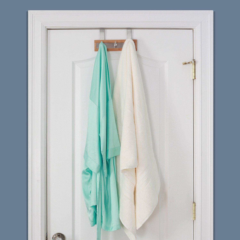 towel hooks. Bamboo Stainless Steel Towel Door Hooks 3 Hook Amazoncom