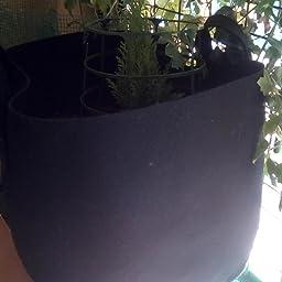 Awnic Sacos para Plantas Maceta Textil no Tejido Plantas Mini ...