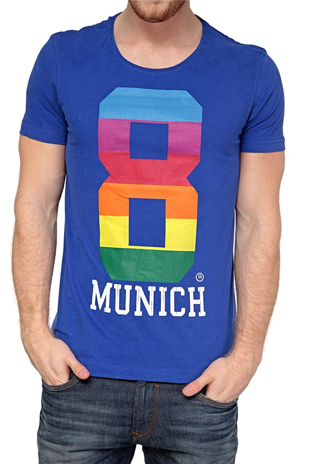 Phazz Brand Munich Graphic Tee EIGHT, Color: Blue