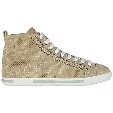 taille 40 83169 5ef8a Prada Basket Montante Femme Sabbia: Amazon.fr: Chaussures et ...