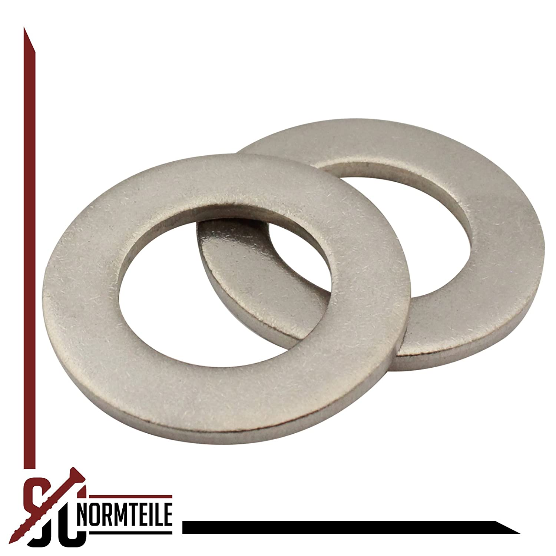 | SC125 V2A | M6 DIN 125 rostfreier Edelstahl A2 25 St/ück Unterlegscheiben Form A SC-Normteile Beilagscheiben