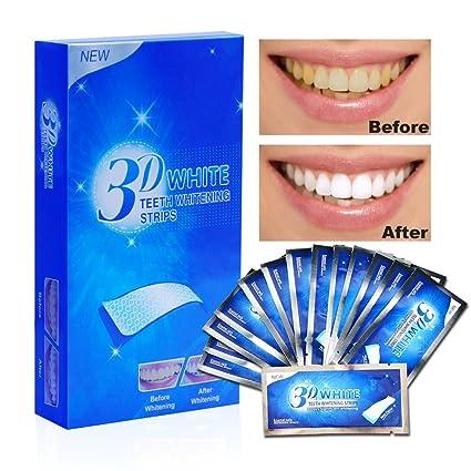 Aiooy Tiras de Blanqueamiento Dental Tiras Blanqueadoras kit de blanqueamiento de dientes Teeth Whitening Strips -