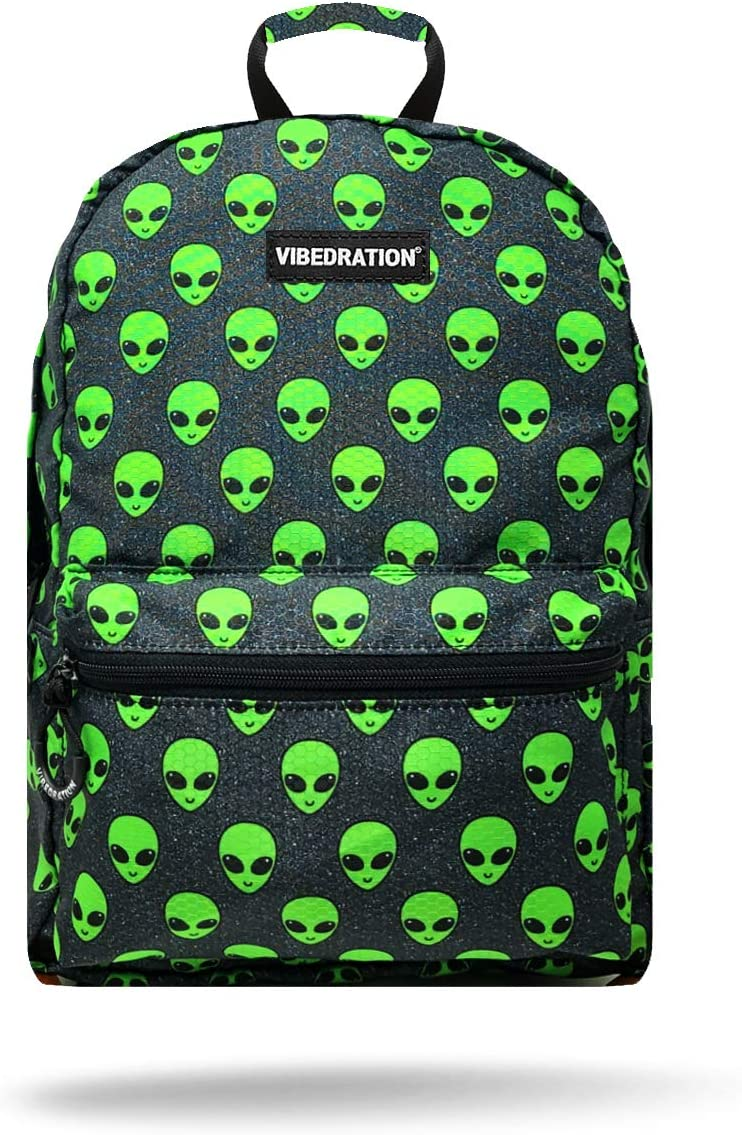 Vibedration All-Access Hydration Pack Water Backpack for Hiking, Camping, Festivals, Raves (Space Alienz)