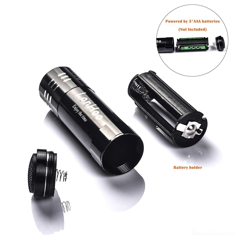 LonHoo 4 pack Mini Flashligts 9 LED Super Bright Portable Medical flashlights Household Outdoor Emergency Flashlight Night Light