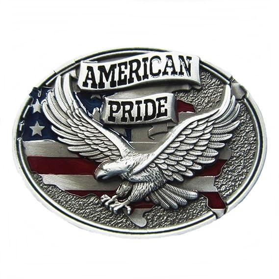 e31a9e2c449ed9 Gürtelschnalle Buckle Gürtelschließe Fliegender Adler American Pride für  Wechselgürtel