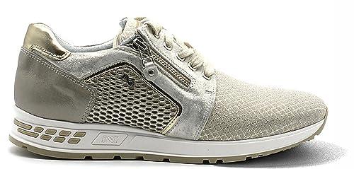 Sneaker Nero Giardini P805234D 412 5234 scarpe donna sportive beige