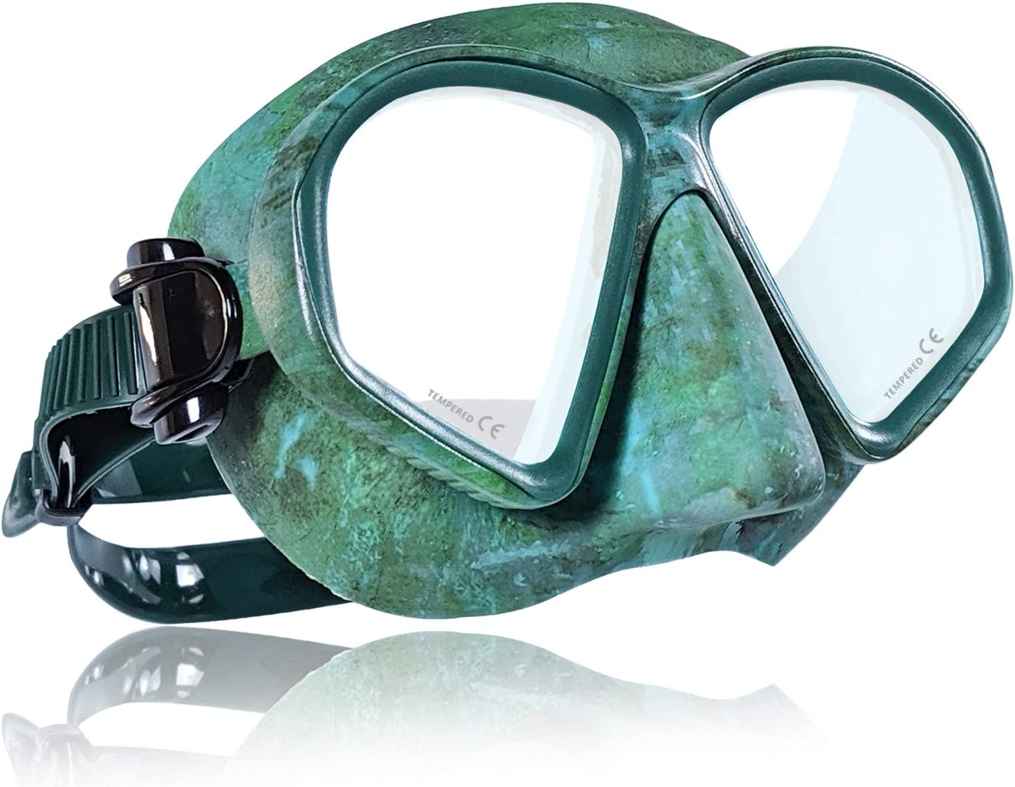 Tilos Spawn Camo Spearfishing Mask for Spearfishing, Free Diving, Scuba Diving and Snorkeling