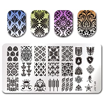 Amazon born pretty nail art stamp template image plate vintage born pretty nail art stamp template image plate vintage damask bp l007 maxwellsz