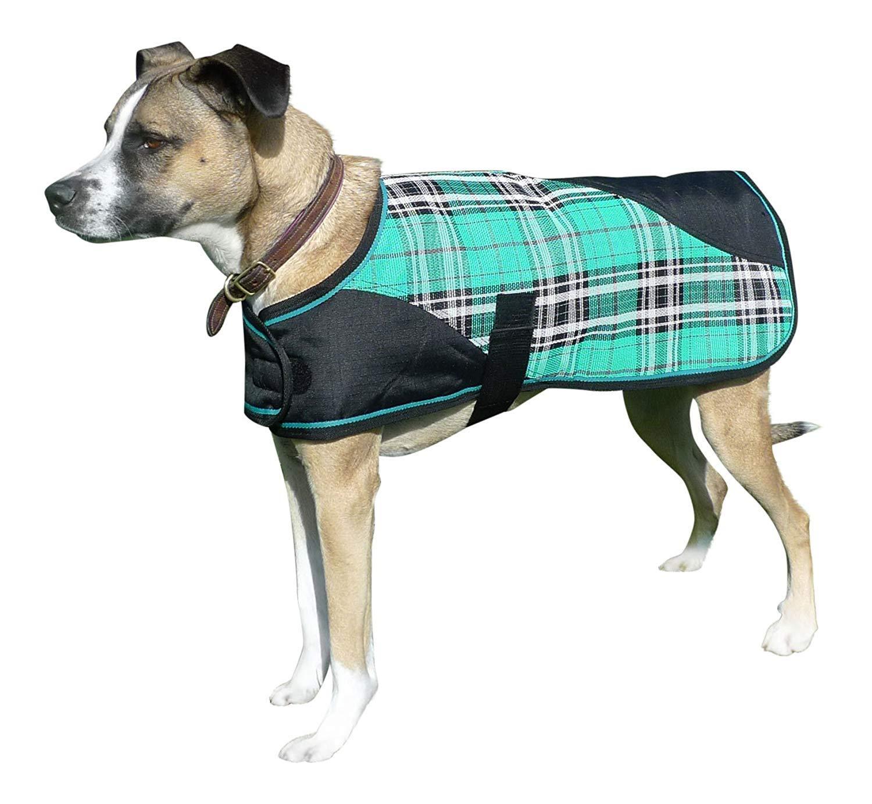 Kensington Signature Plaid 1200 Denier Dog Coat Turnout Blanket, 2X-Large, Black Ice Plaid by Kensington Protective Products
