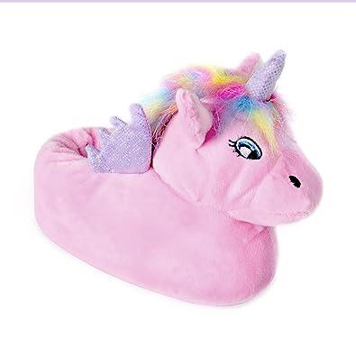 0496e13014945 Girls Unicorn Enchanting Novelty Slippers Non-Slip Sole Soft Warm  Comfortable Cute and Unisex