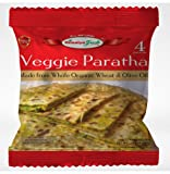 HIMALYA FRESH Veggie Paratha (5 Bags, 4 Pieces Each Bag) - Premium Authentic Indian Food Bread Made With Made With Organic Wheat and Olive Oil - No Fillers Or