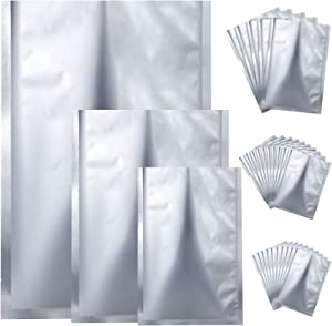 25 Pieces 3 Sizes Mylar Aluminum Foil Bags, Metallic Mylar Foil Flat Heat Sealing Bags Storage Bags Pouch for Food Coffee Tea Beans (8 x 11 Inch, 11 x 15 Inch, 15 x 23 Inch)