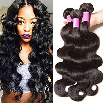 Amazon.com   SINA Virgin Brazilian Hair Body Wave 3 Bundles 14 16 18 inch  Human Hair 10A Full Weaves Weft Extensions for Black Women ON SALE   Beauty b6a025676b