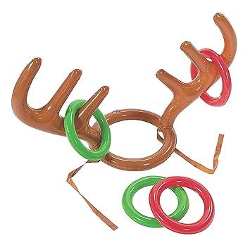 Ring Toss Spiel Beetest Aufblasbare Rentier Geweih Hut Spielzeug